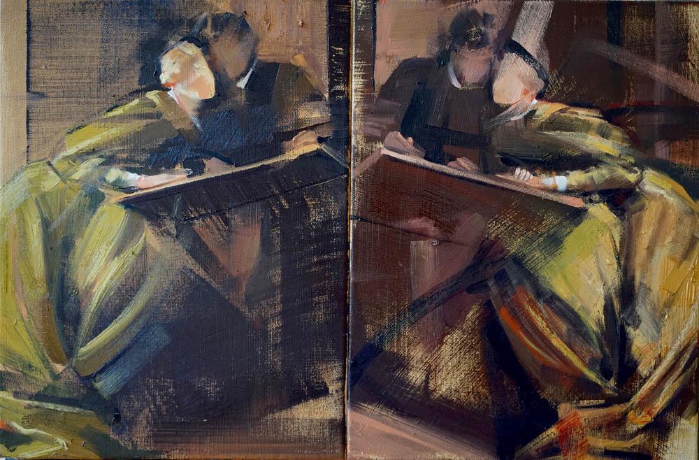 False Friends | diptyque 40x60cm | huile sur toile | 2016
