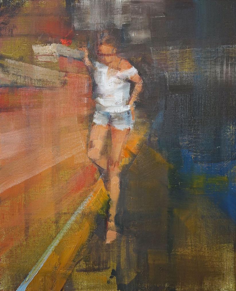 Liz, primary colors | 46x38cm | 2016