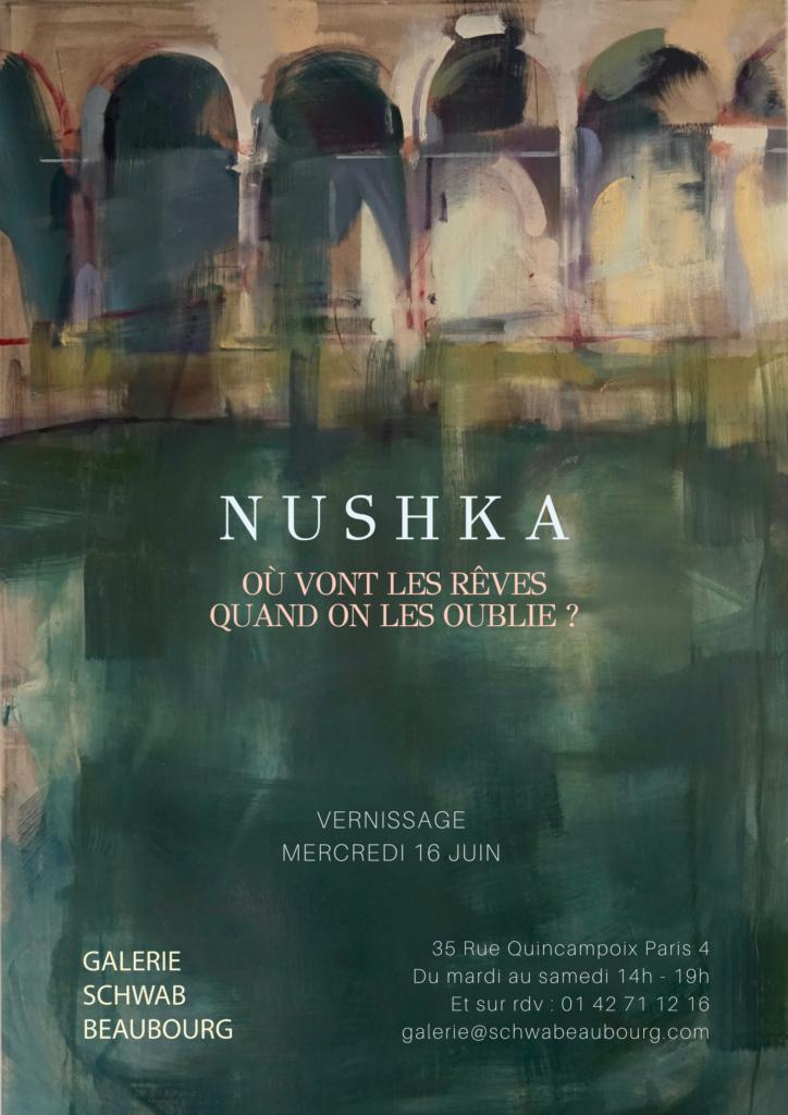 Affiche OU VONT LES RÊVES exposition nushka